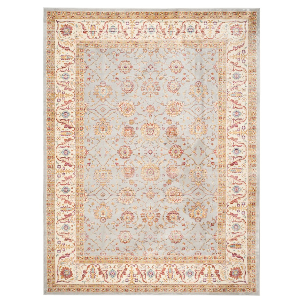 8'X11' Holly Area Rug Silver/Ivory - Safavieh