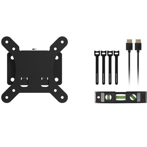 Monoprice Fixed TV Wall Mount Bracket - For TVs 10in to 26in With Max Weight 30lbs, VESA Patterns Up to 100x100 - image 1 of 4