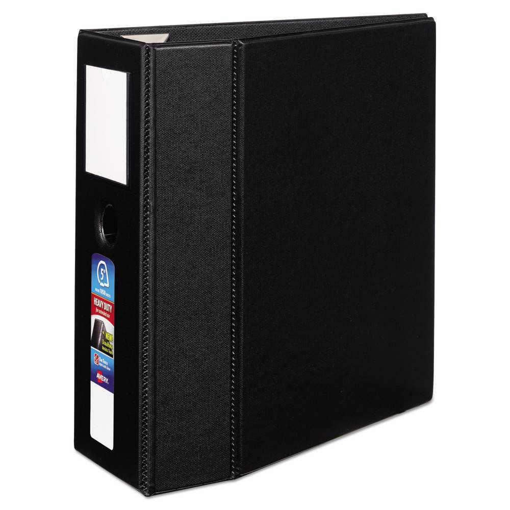 """Image of """"5"""""""" Heavy-Duty Ring Binder with One Touch EZD Rings 11"""""""" x 8.5"""""""" Black - Avery"""""""