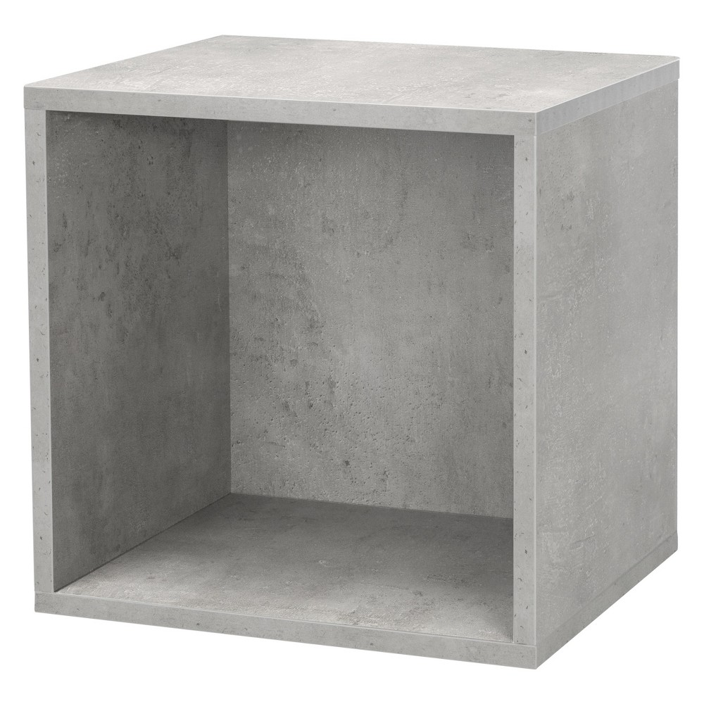 "Image of ""14.8"""" x 12.8"""" Wall Shelf Cube Gray - Dolle Shelving"""