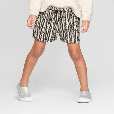 Toddler Girls' Knit Shorts   Art Class™ Black/White by Art Class