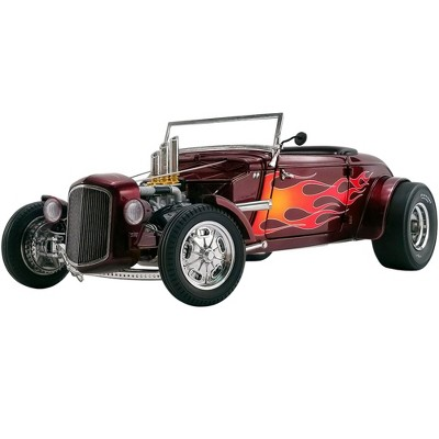 1934 Hot Rod Roadster Brandywine Burgundy Met. with Flames Limited Edition to 450 pieces Worldwide 1/18 Diecast Model Car by GMP