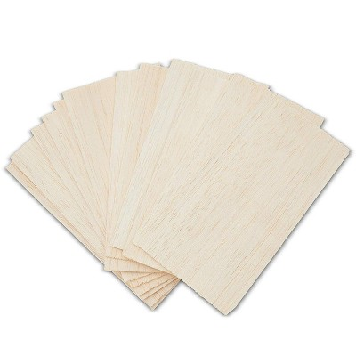Thick Balsa Wood Sheets for DIY Models (8 x 4 in, 12 Pack)