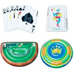Swimline Casino Poker Card Game Inflatable Swimming Pool Island Float Raft
