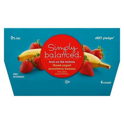 Greek Strawberry Banana Yogurt - 5.3oz - Simply Balanced™ - image 1 of 1