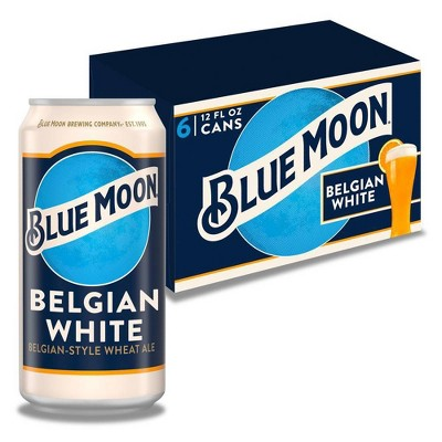 Blue Moon Belgian White Beer - 6pk/12 fl oz Cans
