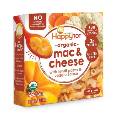 HappyTot Toddler Mac & Cheese with Organic Lentil Pasta and Veggie Sause Bowl  - 4.5oz
