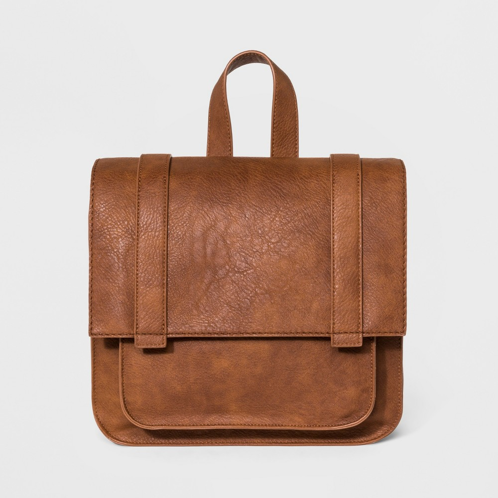 Square Flap Backpack - Universal Thread Cognac (Red)