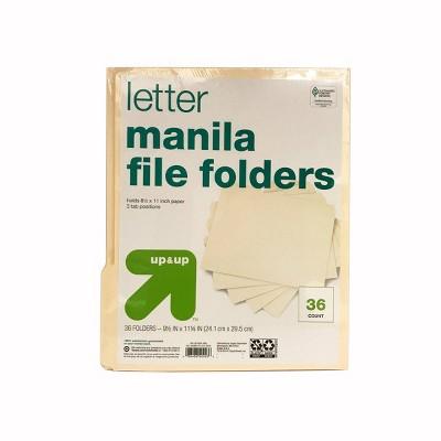 36ct Manila File Folders - up & up™