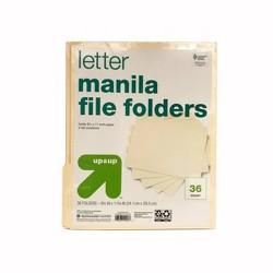 Manila File Folders 36ct - Up&Up™