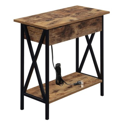 Tucson Flip Top End Table with Charging Station - Breighton Home