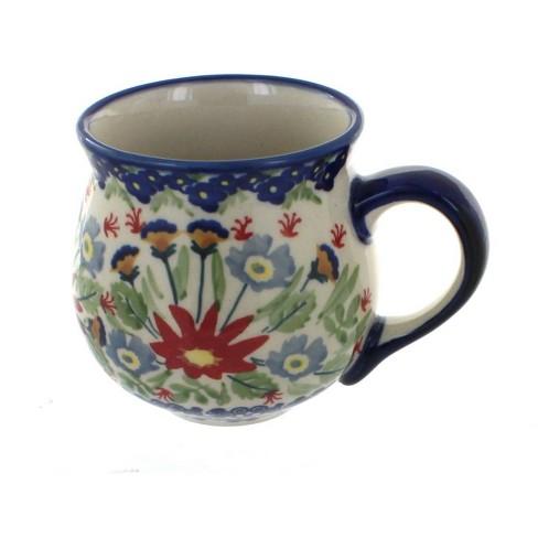 Blue Rose Polish Pottery Jungle Bouquet Bubble Mug - image 1 of 1