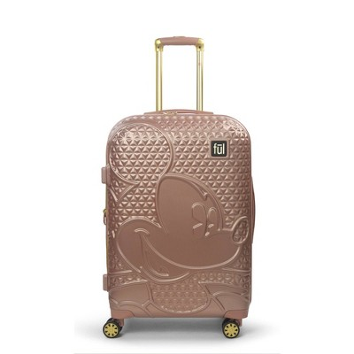 "FUL Disney Mickey Mouse Textured 25"" Hardside Rolling Suitcase - Rose Gold"