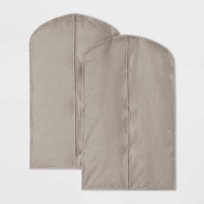 2pk Suit Protector Garment Bag Gray - Room Essentials™