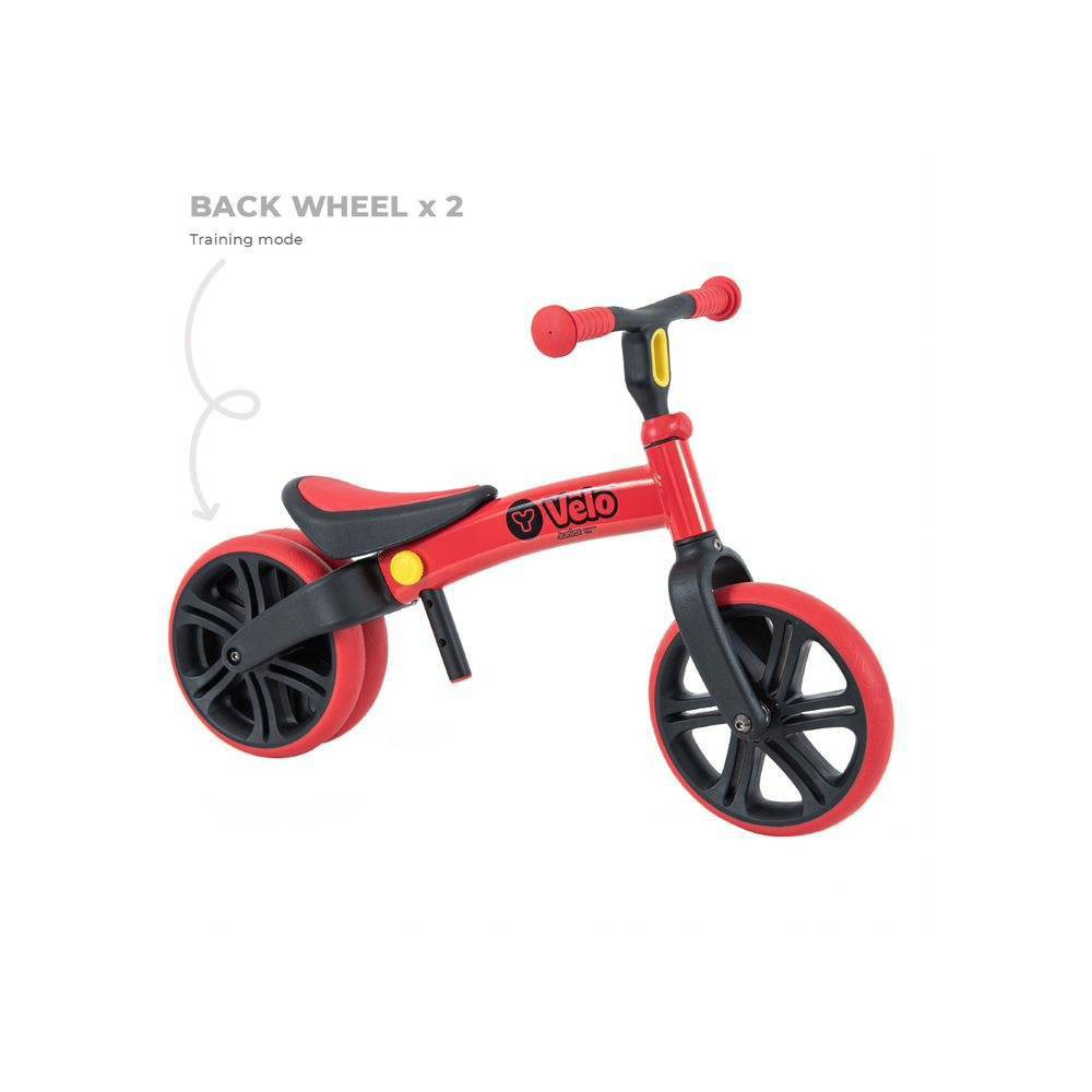 Yvolution Y Velo Junior Toddler No Pedals Balance Bike for Ages 18 Months to 4 Years - Red, Kids Unisex