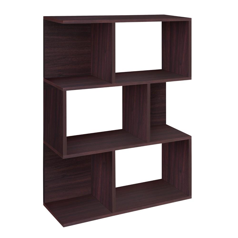 Way Basics Madison Bookcase, Room Divider Shelf, Espresso - Formaldehyde Free - Lifetime Guarantee, Brown