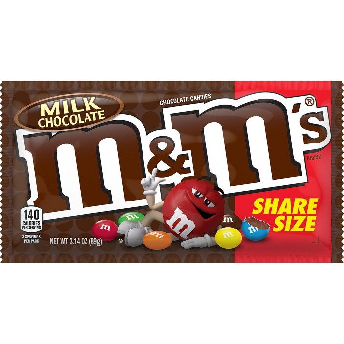 M&M's King Size Milk Chocolate Candies - 3.14oz - image 1 of 3