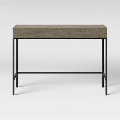 Loring Wood Writing Desk with Drawers Gray - Project 62™