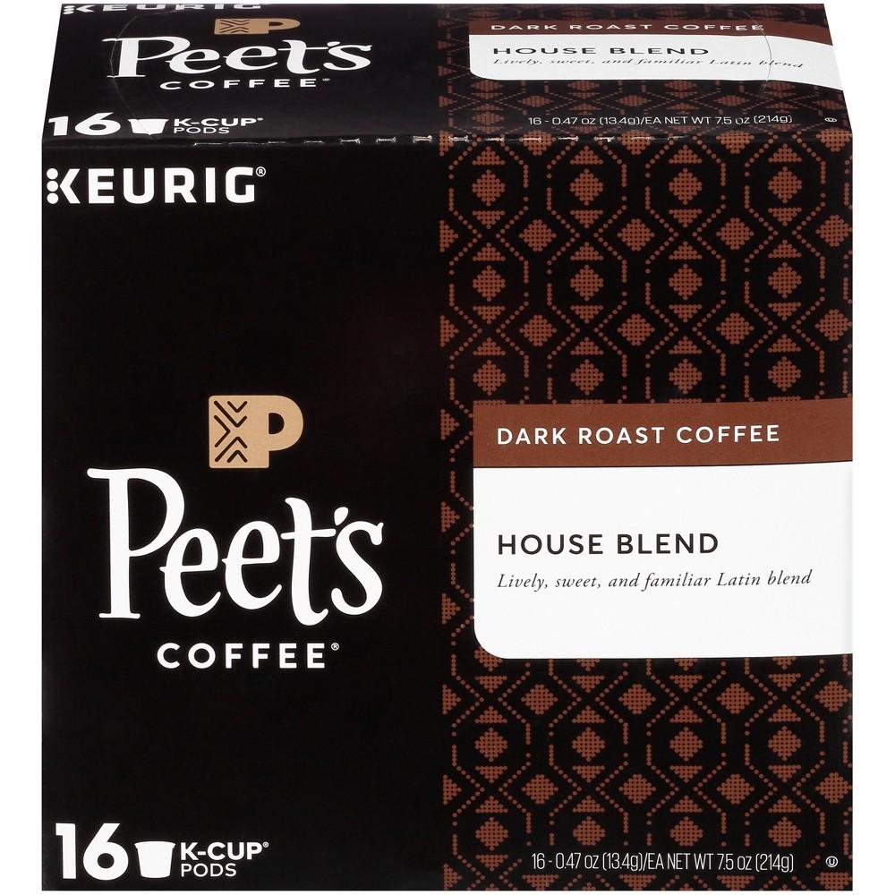 Peet's Coffee House Blend Dark Roast Coffee - Keurig K-Cup Pods - 16ct