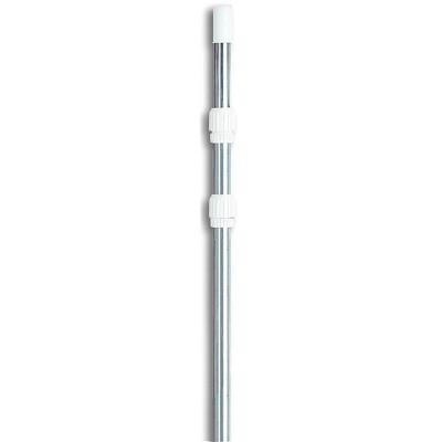 Swimline 3 Piece 4 to 12 Foot Adjustable Heavy Duty Aluminum Universal Telescopic Pool Pole, Silver