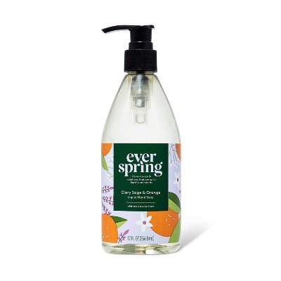 Liquid Hand Soap Clary Sage & Orange - 12 fl oz - Everspring™