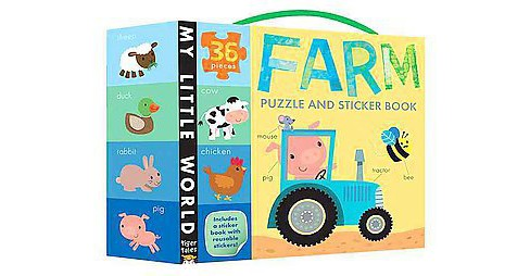 Farm Puzzle and Sticker Book (Paperback) - image 1 of 1