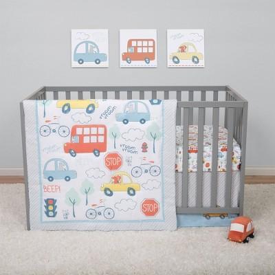 Sammy & Lou Beep Beep Transportation Crib Bedding Set - 4pc