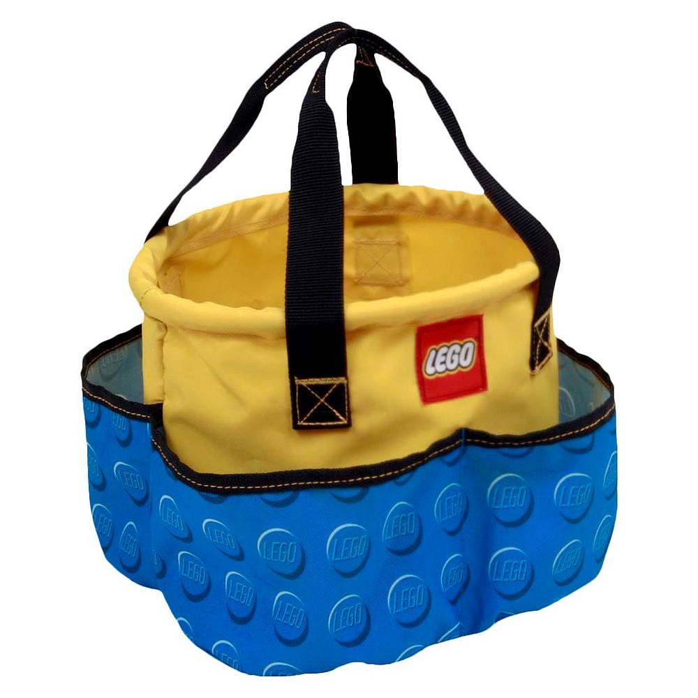 "Image of ""LEGO 10"""" Storage Big Drawstring Bag Toy Bucket, Blue"""