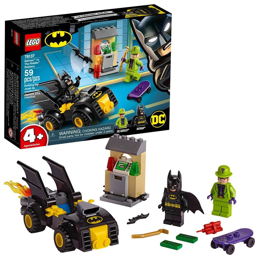 LEGO DC Comics Super Heroes Batman vs. The Riddler Robbery 76137 Toy Car Building Kit 59pc