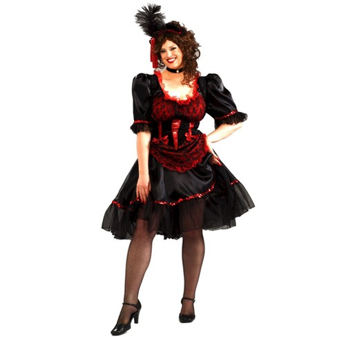 Women's Saloon Girl Costume Plus Size - image 1 of 1