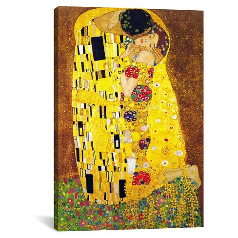 The Kiss By Gustav Klimt Canvas Print Target