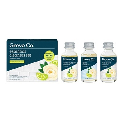 Grove Co. Essential Cleaners Concentrates - Citron & White Rose - 3pk