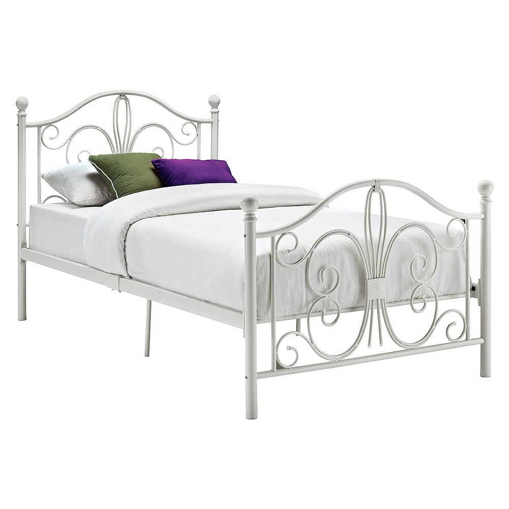 Image of Bombay Metal Bed - Twin - White - Dorel Home Products