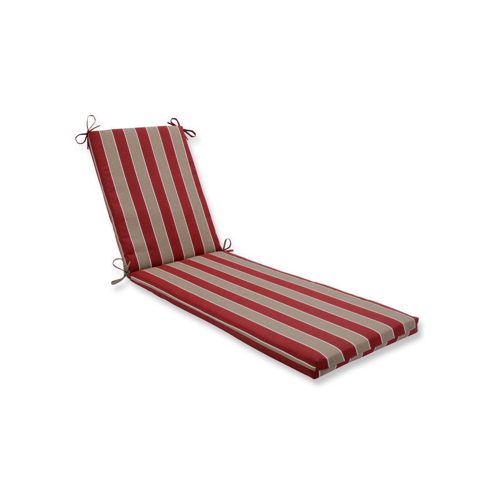 Indoor/Outdoor Wickenburg Cherry Chaise Lounge Cushion - Pillow Perfect, Tan