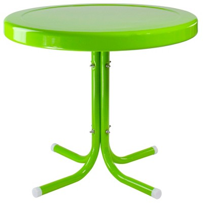 """Northlight 22"""" Outdoor Retro Tulip Side Table, Lime Green"""