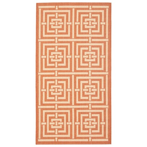 Herning Patio Rug - Natural / Olive - Safavieh® - image 1 of 1