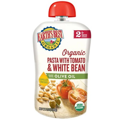Earth's Best Organic Pasta with Tomato White Bean & Olive Oil - 3.5oz