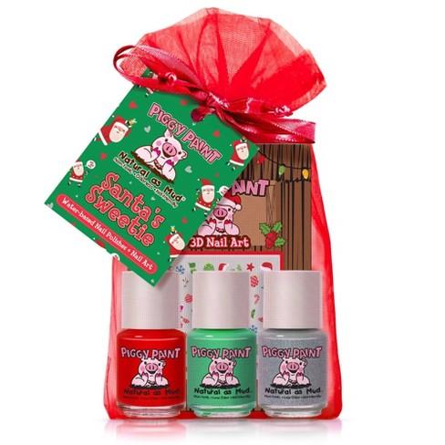 Piggy Paint Nail Polish Set - Santa's Sweetie - 3pk/0.25 fl oz each + 1 Nail Art - image 1 of 4