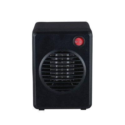 Optimus H-7800 300 Watt Portable Indoor Electric Ceramic Mini Space Heater with Internal Heating Control and Automatic Tip Over Safety Switch