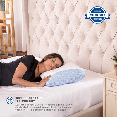 SensorPEDIC SuperCOOL Gel-Infused Memory Foam Bed Pillow