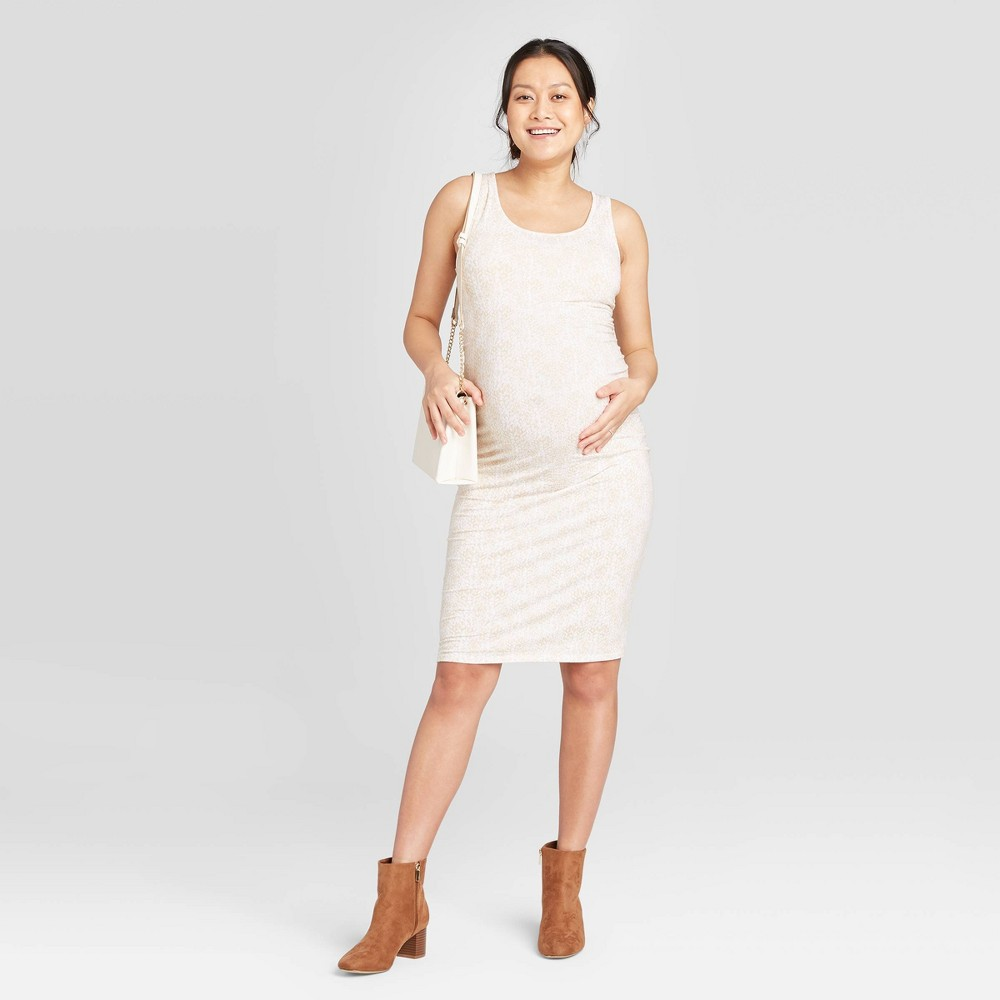 Snake Print Sleeveless T-Shirt Maternity Dress - Isabel Maternity by Ingrid & Isabel Beige XL was $22.99 now $10.0 (57.0% off)
