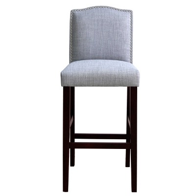 Camelot Nailhead Trim 30  Barstool Hardwood/Gray - Threshold™