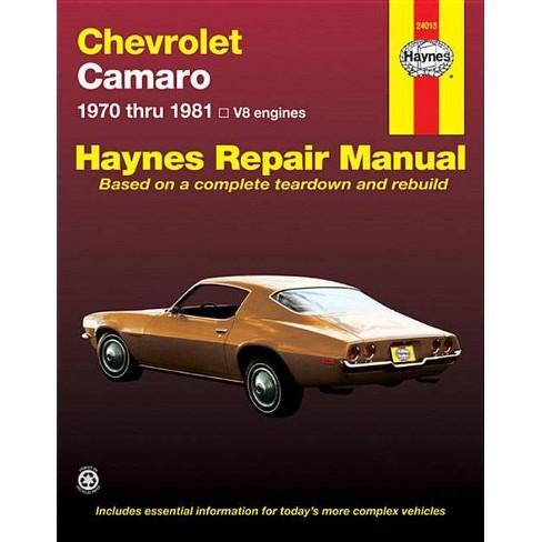 Chevrolet Camero V8 Repair Manual - (Haynes Repair Manual (Paperback)) by  John Haynes (Paperback) - image 1 of 1