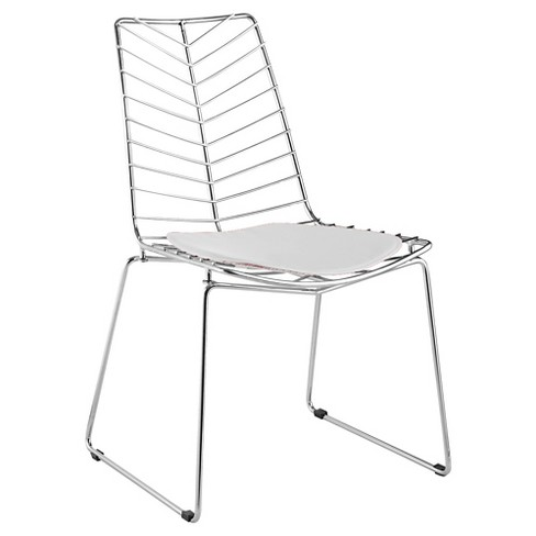 Wire Leaf Dining Chair - White - Fine Mod Imports - image 1 of 1