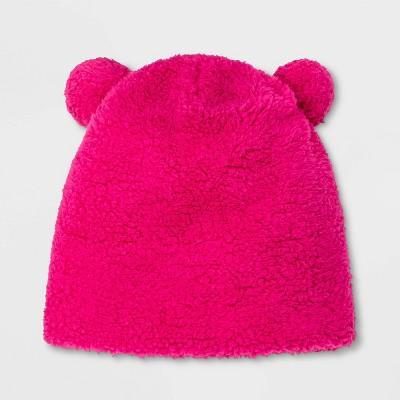 Girls' Teddy Fleece Beanie - Cat & Jack™ Pink