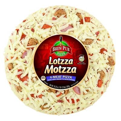Brew Pub Lotzza Motzza 4-Meat Frozen Pizza - 28.25oz