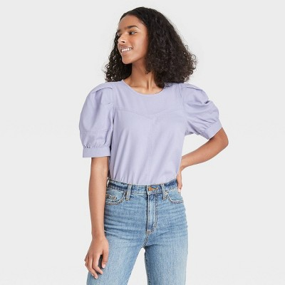 Women's Puff Short Sleeve Blouse - Universal Thread™