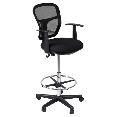 Riviera Drafting Chair - Black