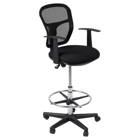 Riviera Drafting Chair - Black - image 1 of 4