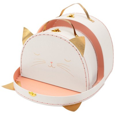 Meri Meri - Cat Suitcase Set - Bag and Luggage Sets - 2ct